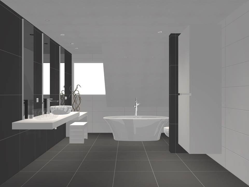 3D badkamer ontwerp gemaakt door Sanidrõme van Lieshout uit Veghel ...