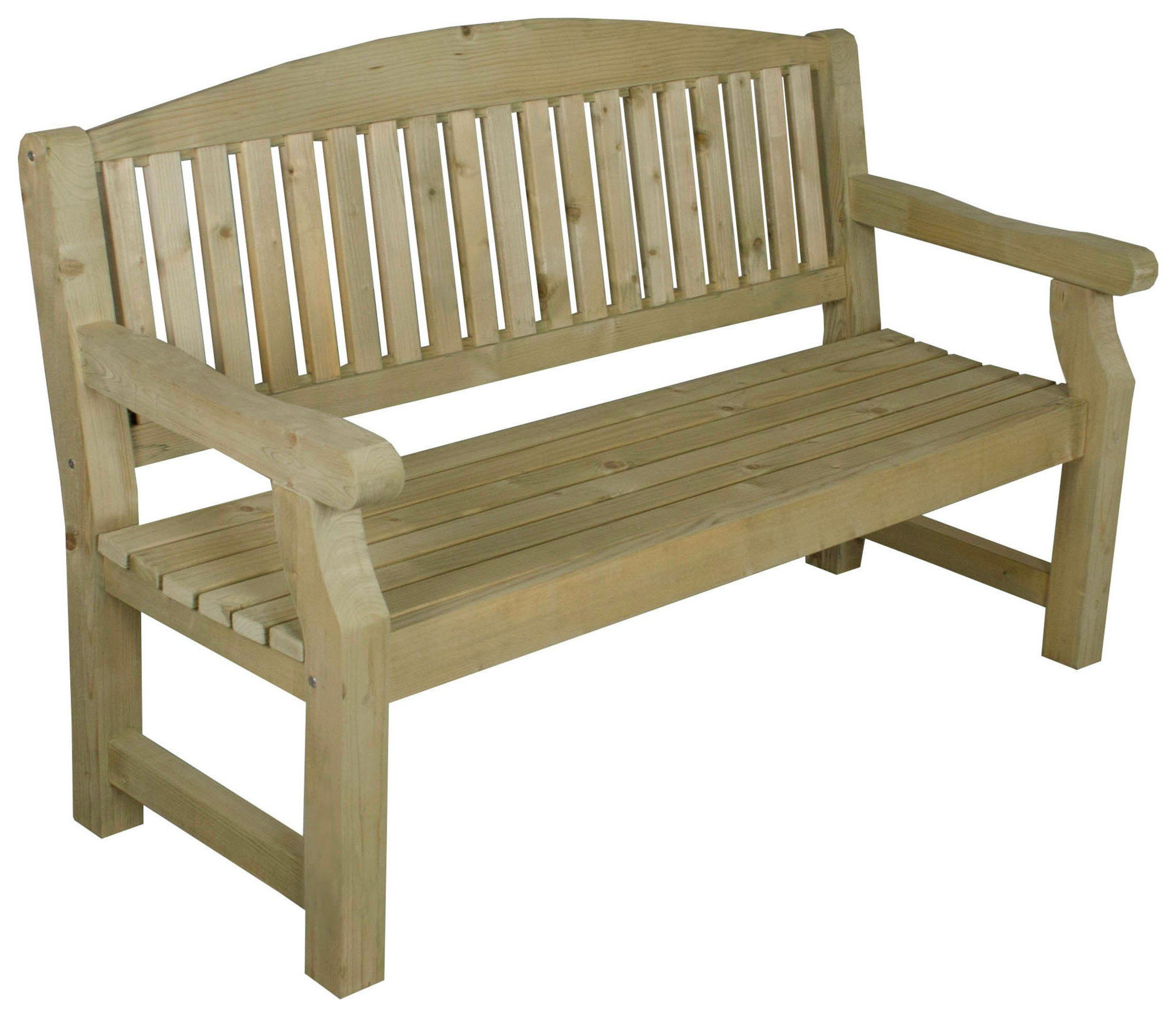 Forest Harvington Wooden 3 Seater Garden Bench in 2020