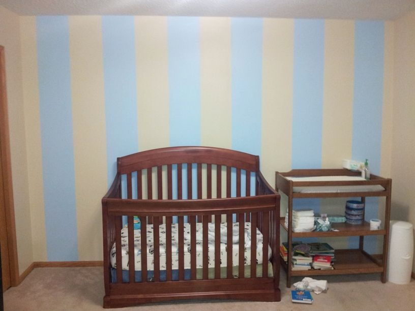 Final product- Stripes I painted in my son's room