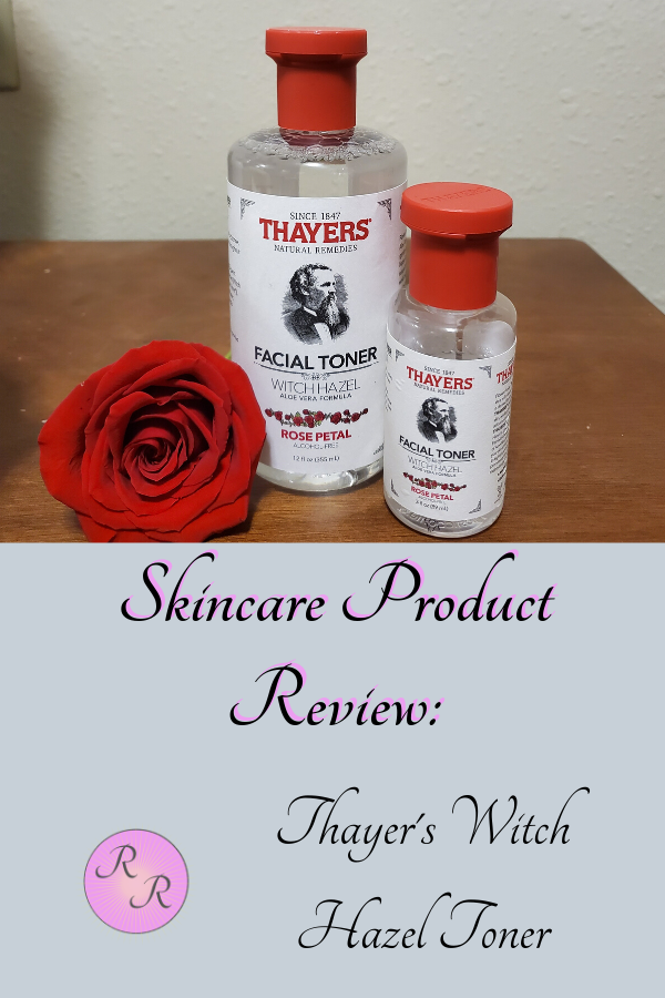Skincare Product Review Thayer's Witch Hazel Toner in