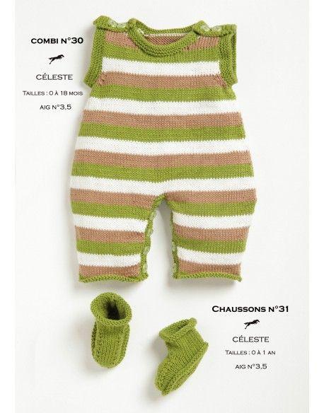 Modèles combinaison et chaussons CB20-30-31 - Patron tricot gratuit