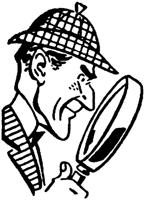 Detective Sherlock Holmes Coloring Page For Kids Netart Detective Sherlock Holmes Coloring Pages For Kids Coloring Pages
