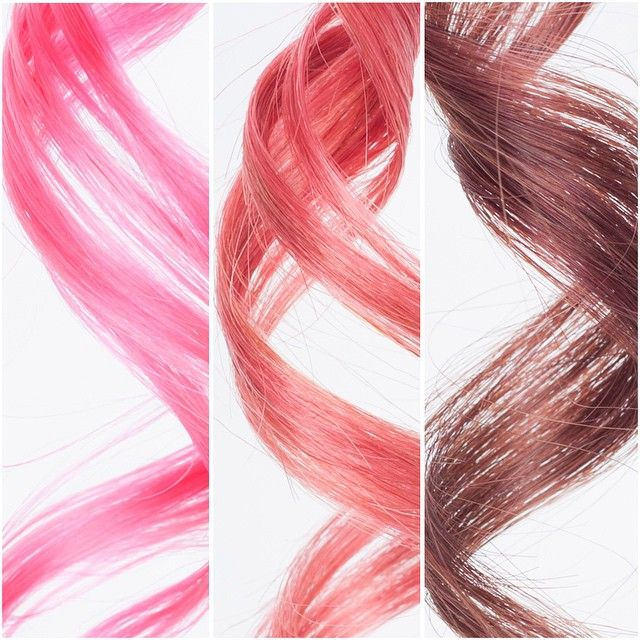 Overtone On Instagram Today Calls For Some Pink Swatches From Left To Right Vibrant Pink On Platinum Blonde Vi Medium Blonde Damp Hair Styles Hello Hair