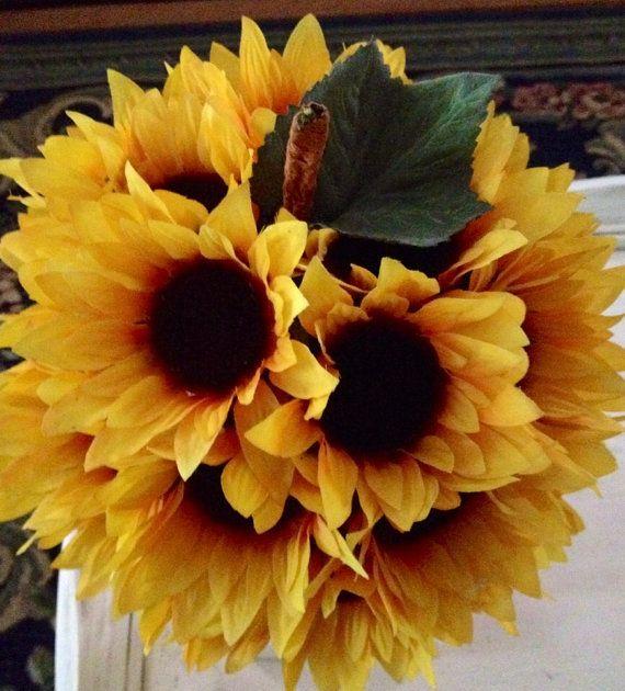 Sunflower Pumpkin Fall Decor Autumn Centerpiece by BlessMyNestShop, $40.00