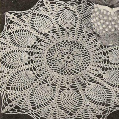 Sunburst Pineapple Crochet Doily | Doilies | Pinterest