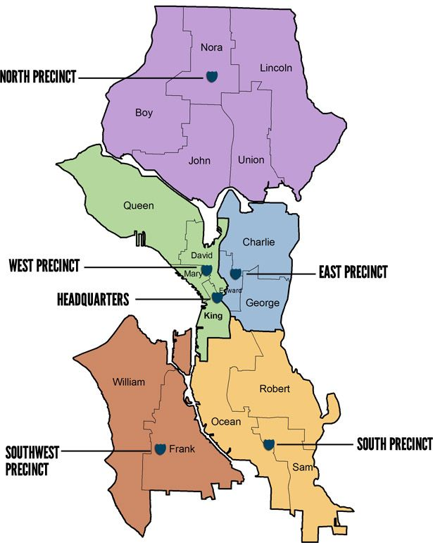 Seattle Police Map Seattle Police Department Precinct Map | Unraveling   Scenery