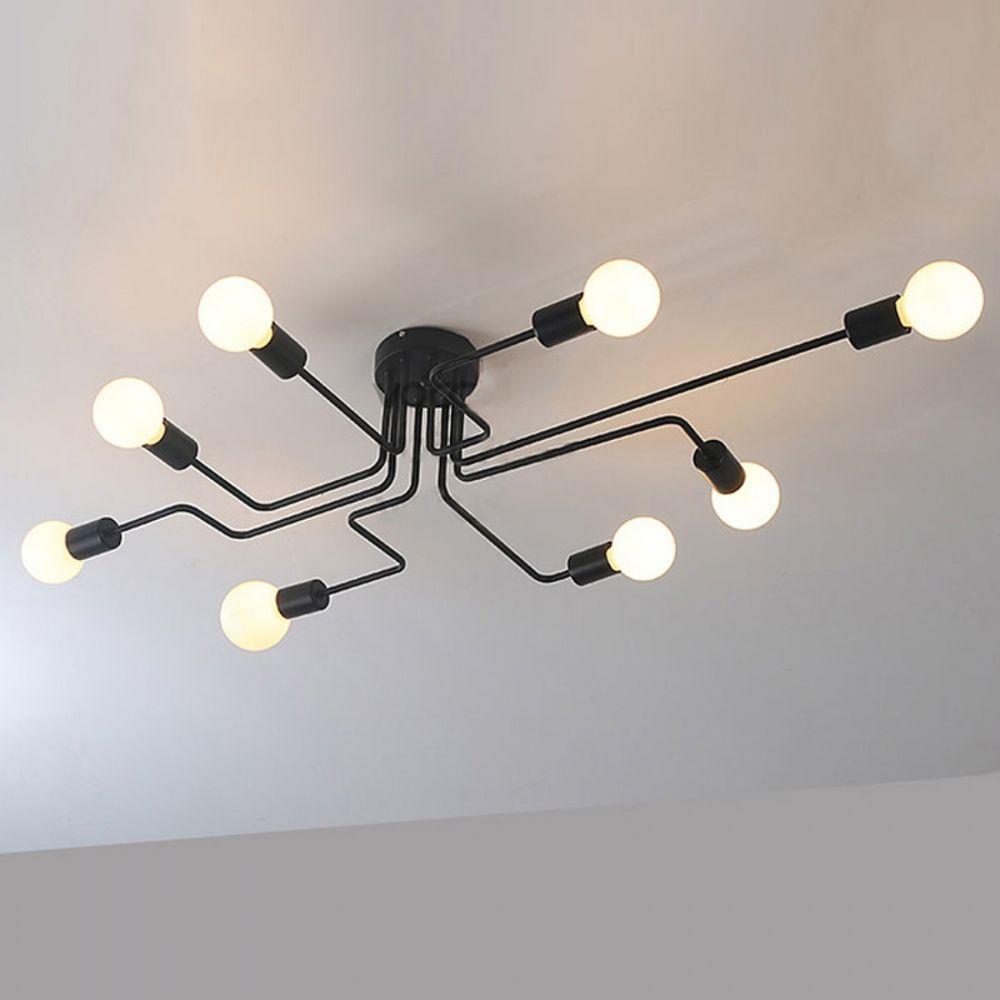 Vintage Loft Multiple Rod Ceiling Light Creative Industrial Lighting ...