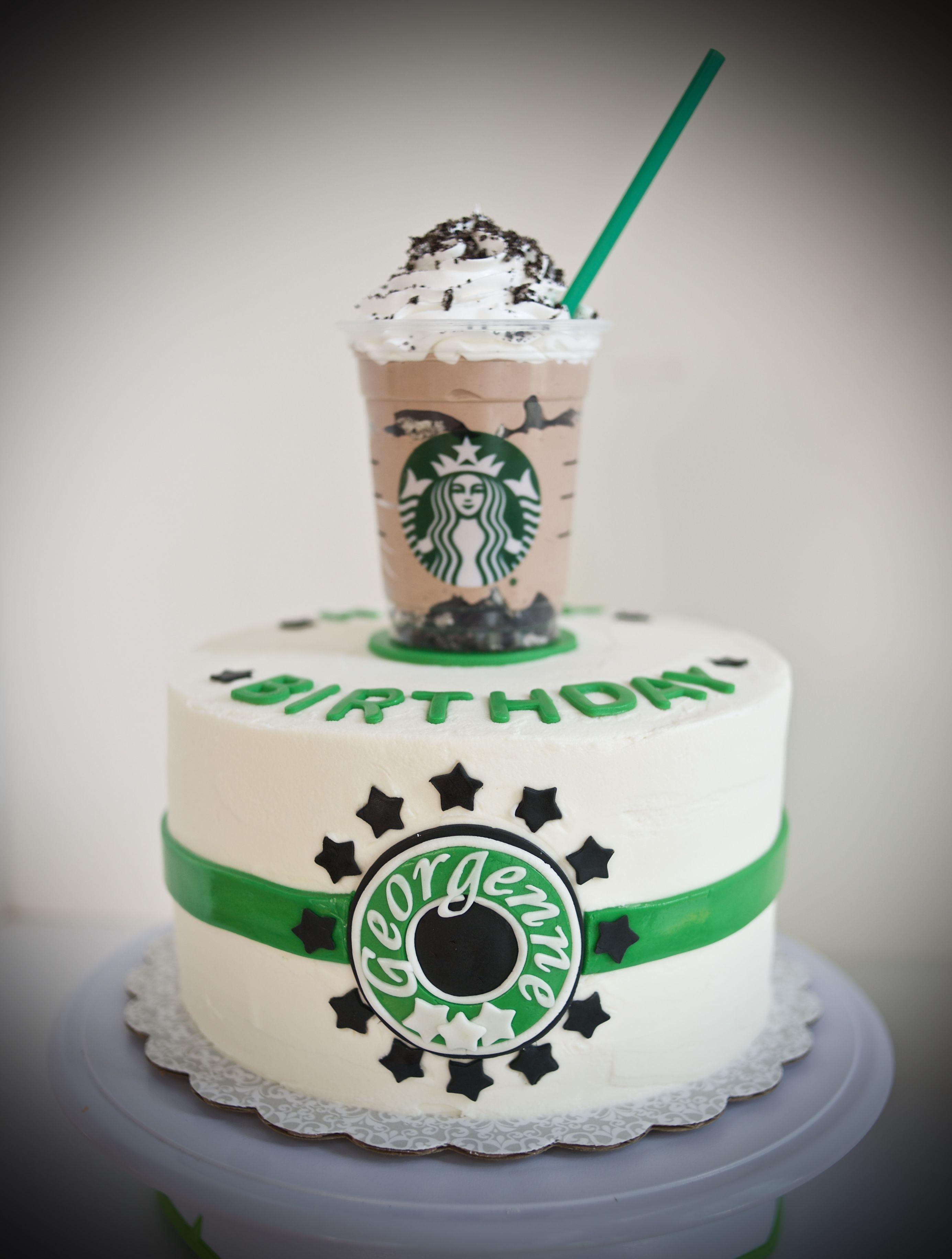 Fantastic Starbucks Birthday Cake With Images Starbucks Birthday Funny Birthday Cards Online Unhofree Goldxyz