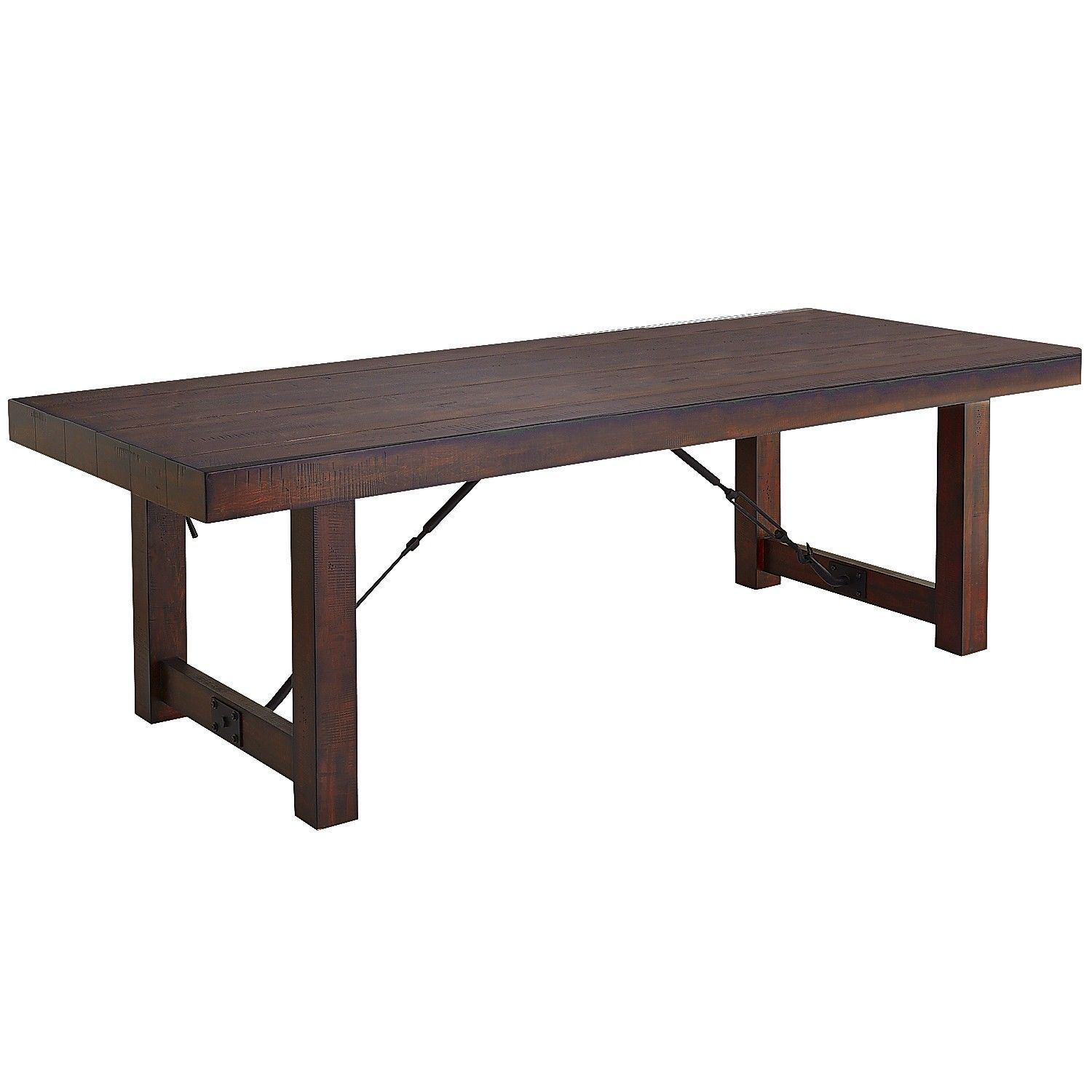 "Eastwood Tobacco Brown 94 25"" Dining Table"