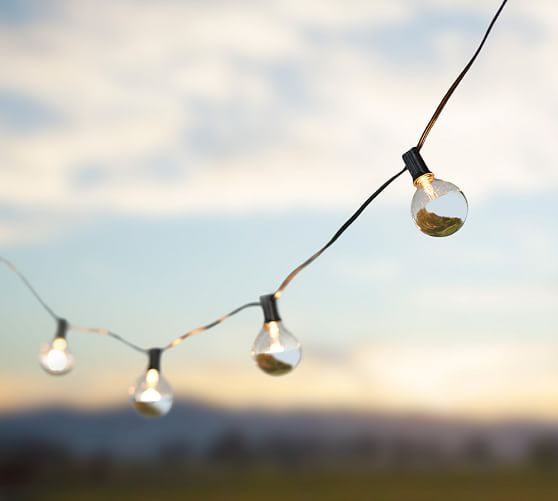 Metallic dipped string lights pottery barn