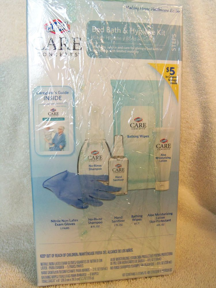 Clorox Care Concepts Bed Bath Hygiene Kit New Sealed Clorox