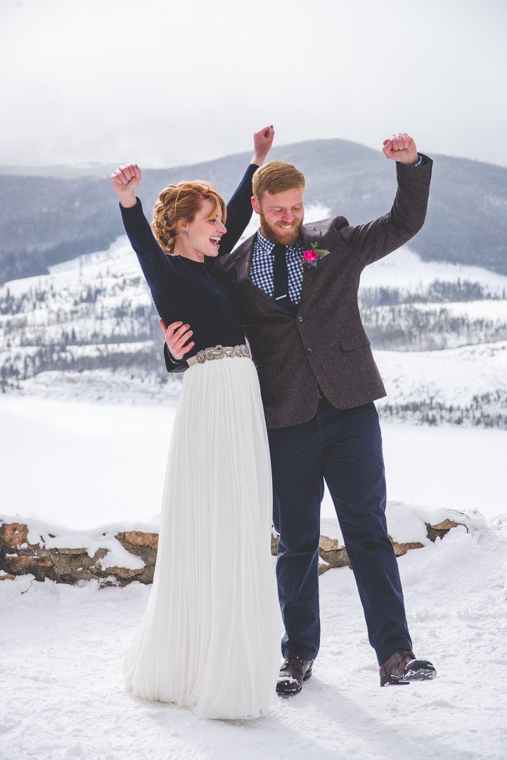 Photo of Winter Elopement In Breckenridge, Colorado