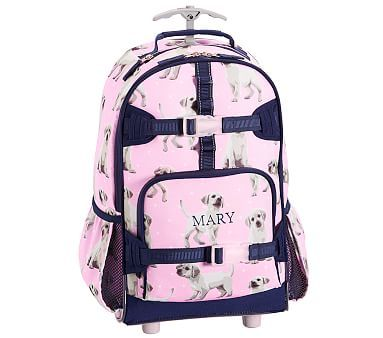 Mackenzie Pink Navy Puppy Backpack Puppy Backpack