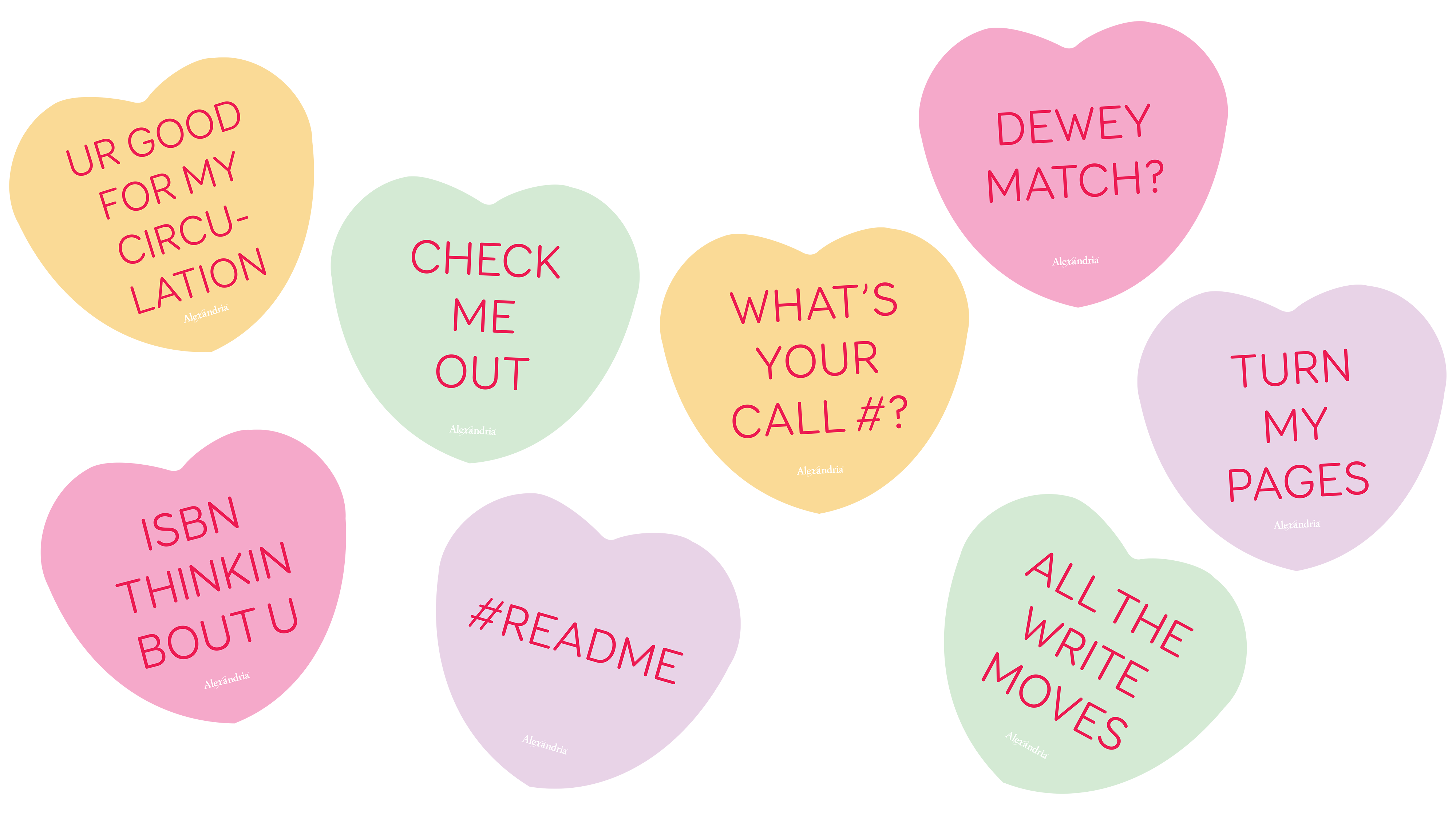 Decorate With Library Themed Candy Hearts Library Posters Heart Candy Reading Posters Free