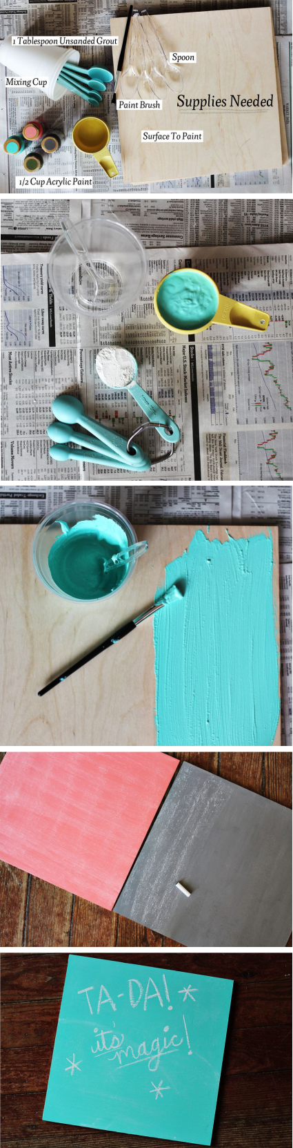 How to make chalkboard paint in any color | Random Tuesdays