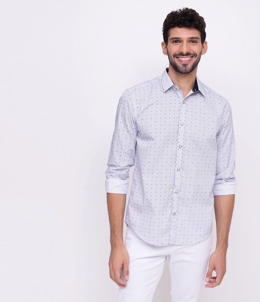 fb9ebaeac Camisa masculina Manga longa Estampada Marca  Marfinno Tecido  algodão  Composição  60% algodão