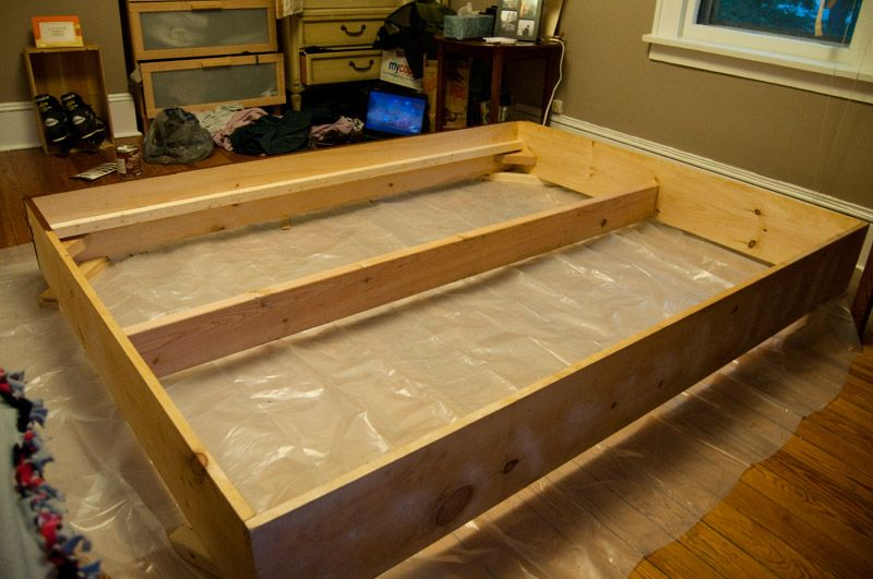 Diy Bed Frame Making Life Pretty Spare Room Bed Frame Diy Bed