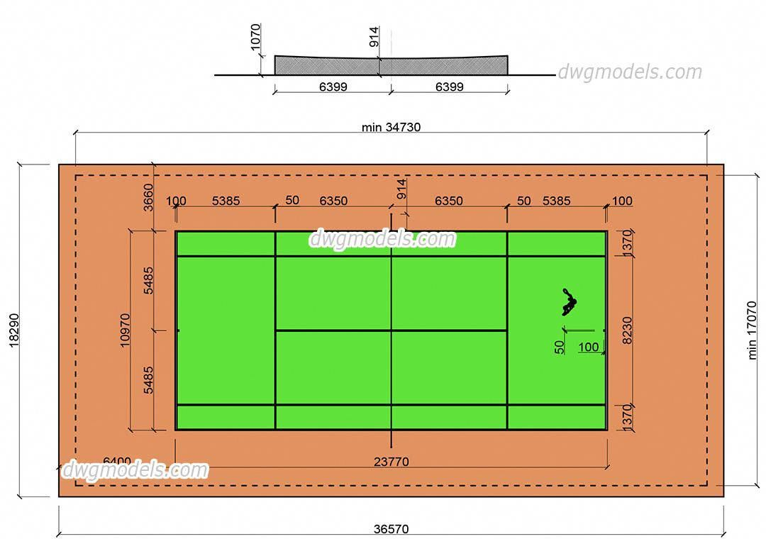 Tennis Court Dimensions Tennis Court Tennis Court Design Tennis Court Size