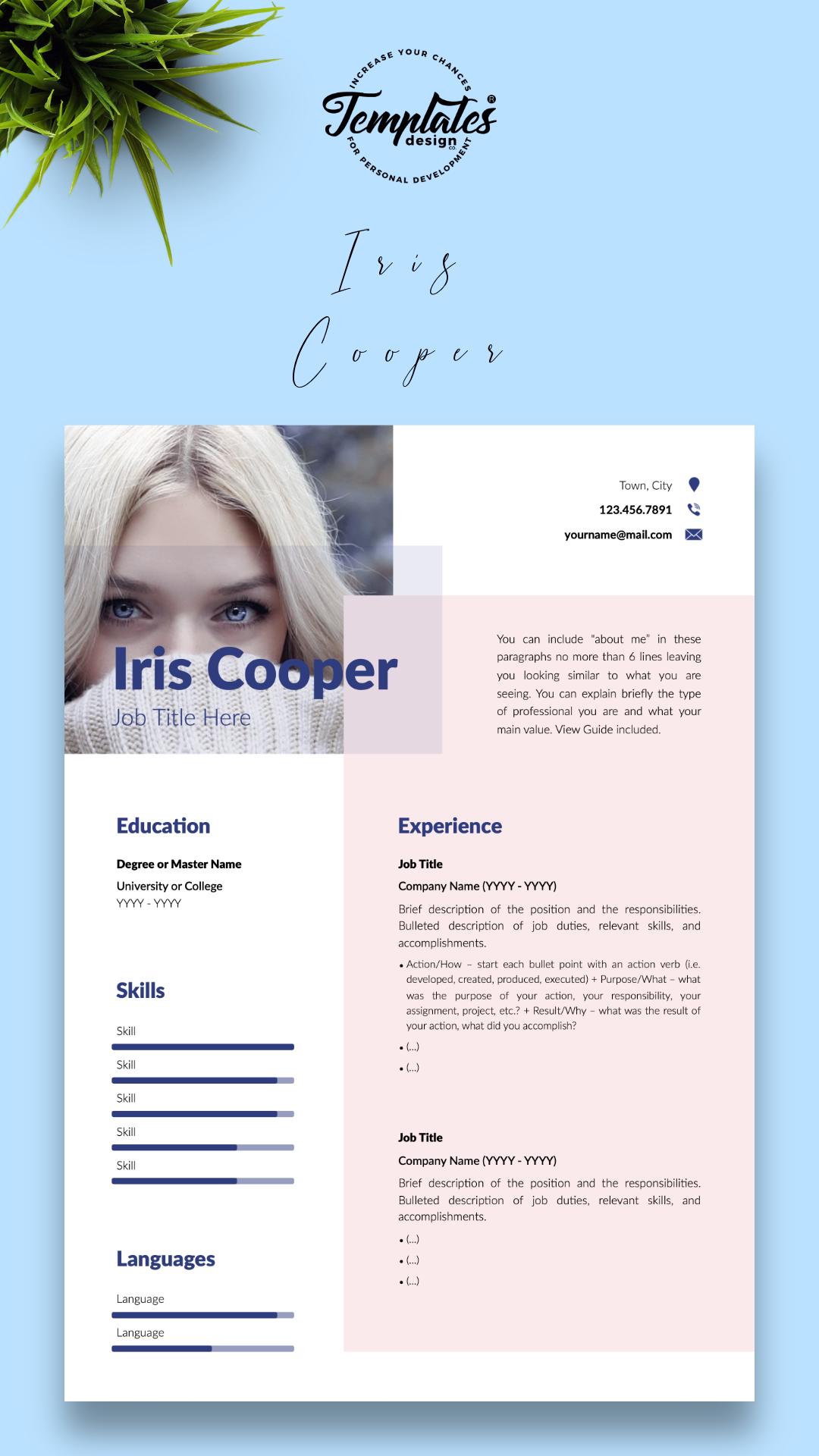 Professionelle Lebenslauf Vorlage Fur Microsoft Word Und Apple Pages Modern Resume Resume Design Template Resume Templates