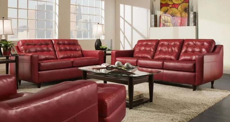 8 Red Faux Leather Sofa Options That Make A Statement Red