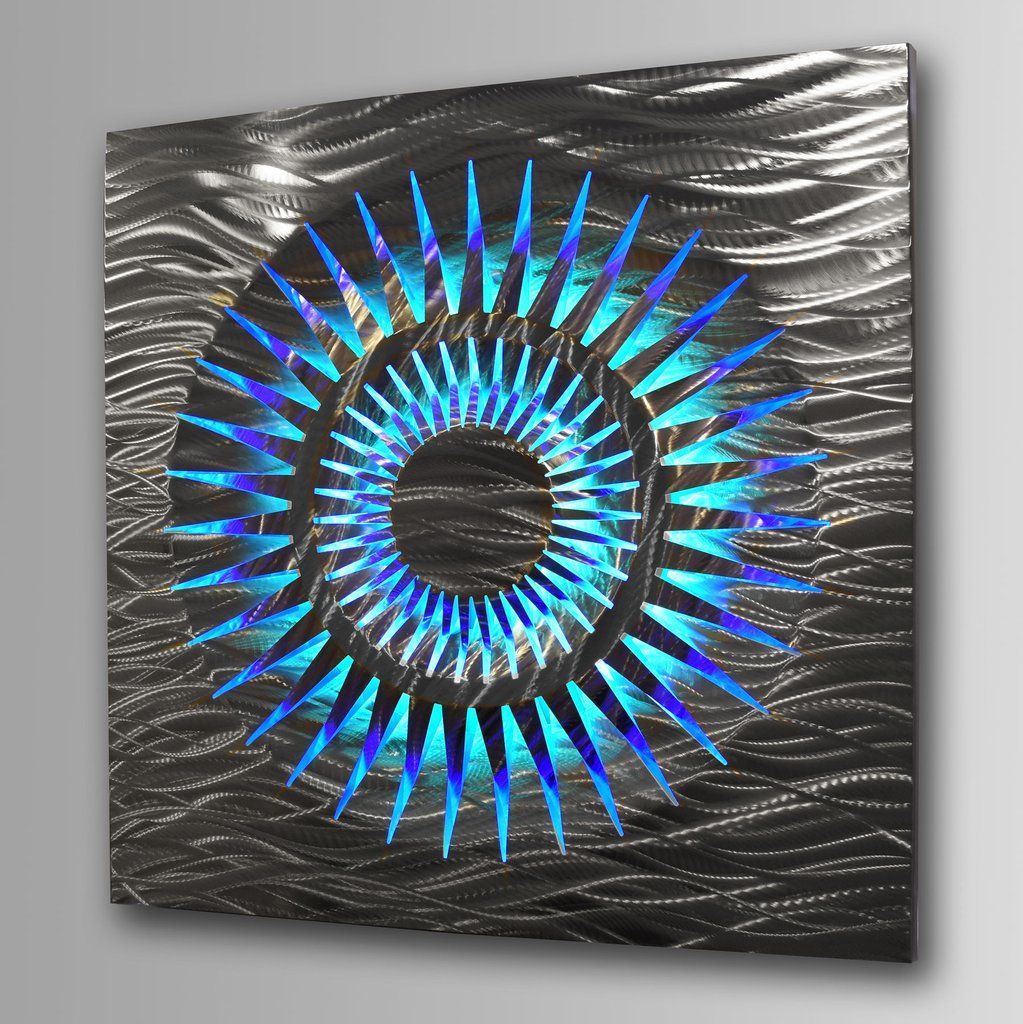 eclipse extra large led lighted geometric 40 x 40 on wall art id=67403