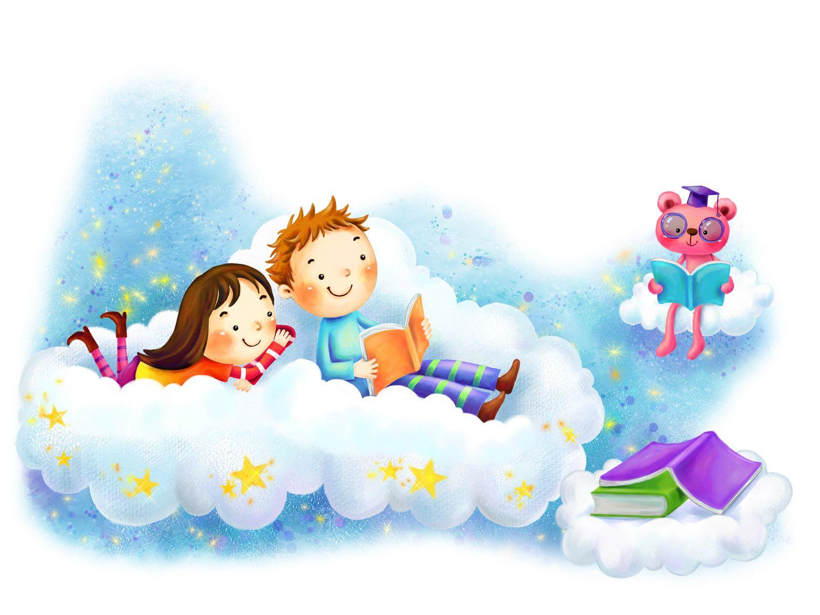 lecture | Niños leyendo animados, Proyectos de arte para niños, Dibujos  niños leyendo