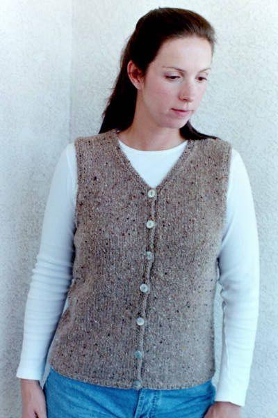 V_neck_vest_women | Knit vest pattern, Knit vest pattern ...
