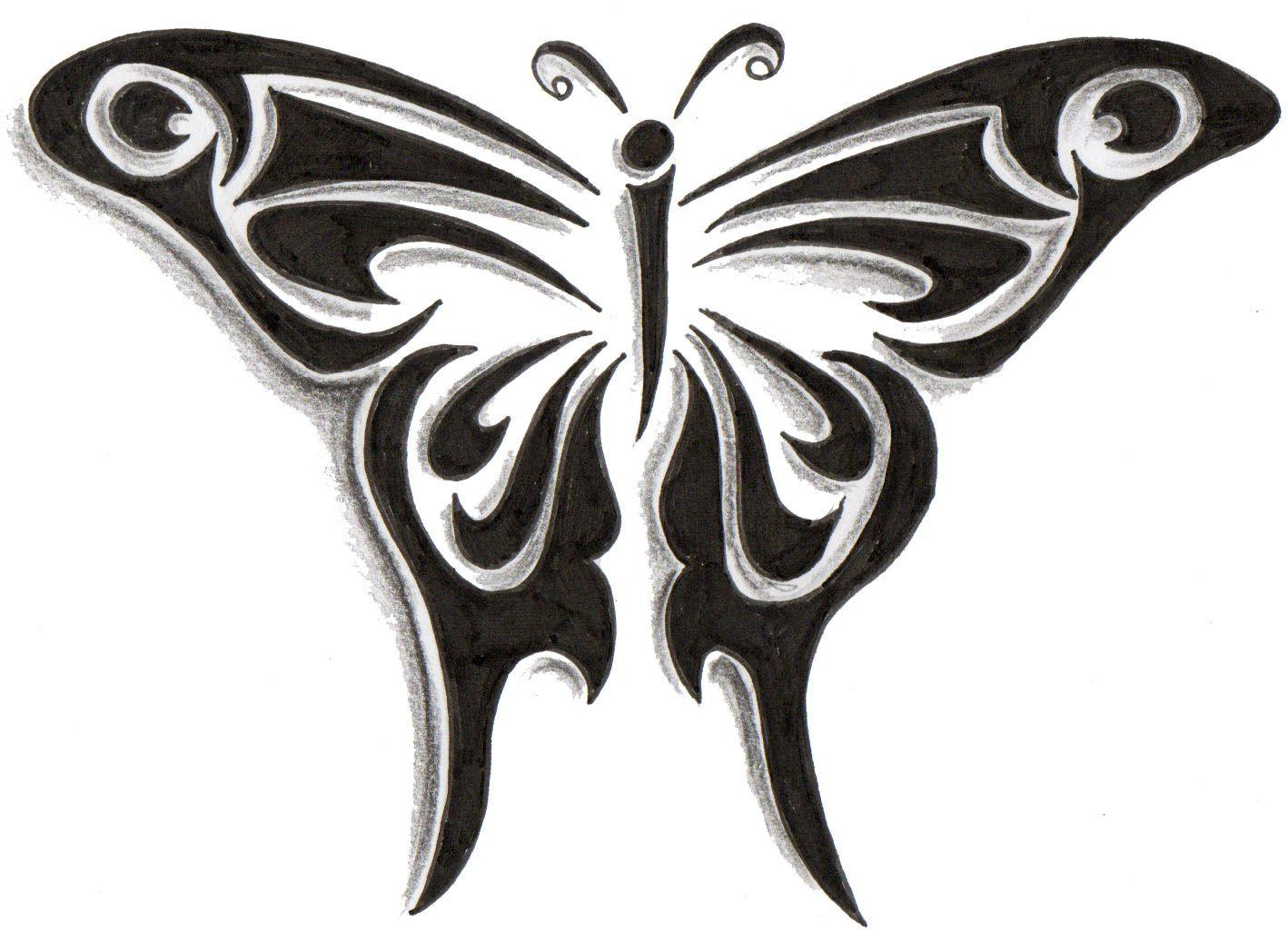 tribal butterfly tattoos - HD1418×1026