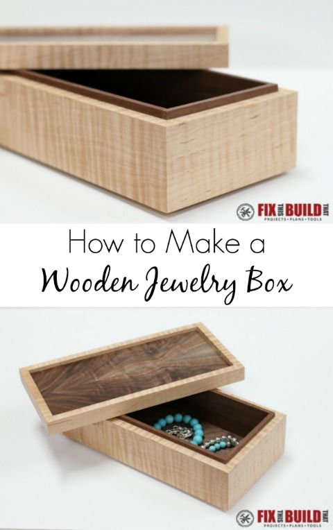 How To Make A Wooden Jewelry Box Gorgeous How To Make A Simple Wooden Jewelry Box  Wooden Jewelry Boxes Box Inspiration Design