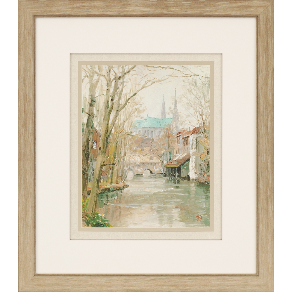 Chartres. Exclusive giclee. A peaceful brook meanders its way ...