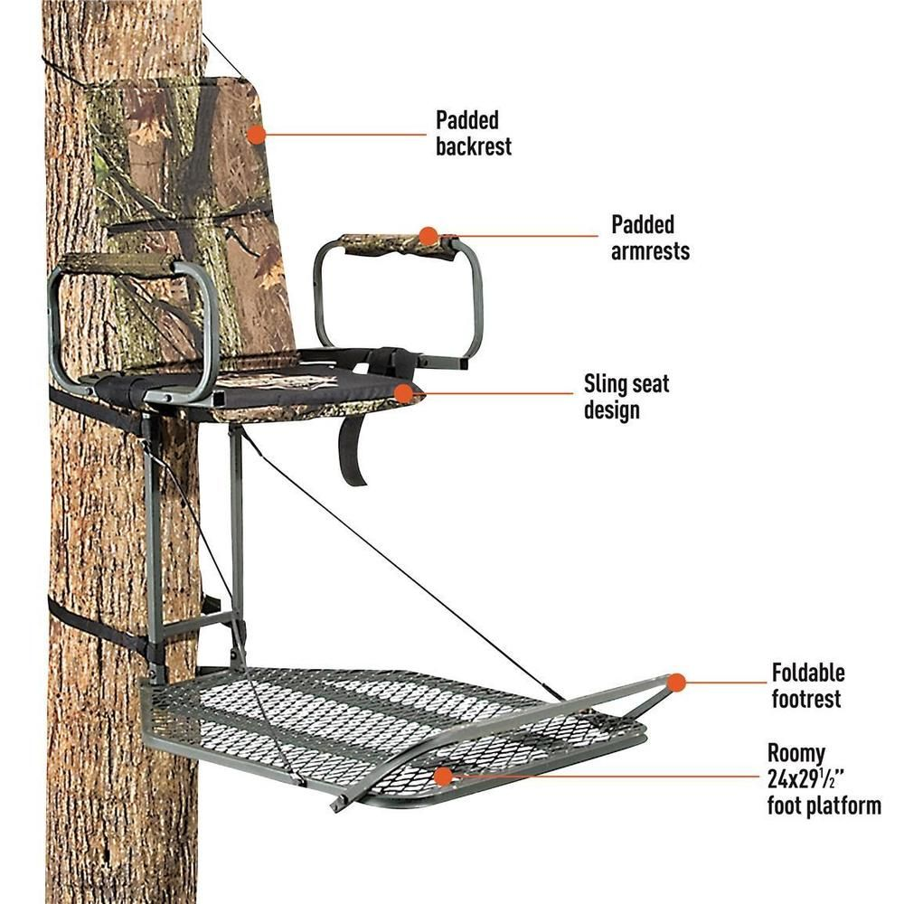 Guide Gear Deluxe Hunting Hang On Tree Stand Ladder