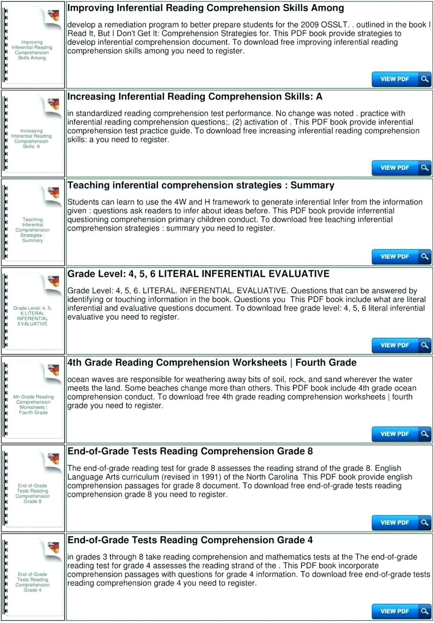 3 Worksheet Reading Comprehension Worksheets Fifth Grade 5