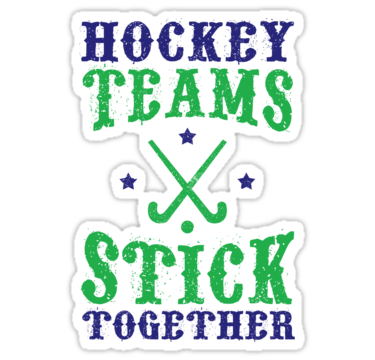 Field hockey teams stick together stickers by gamefacegear check out these cool die