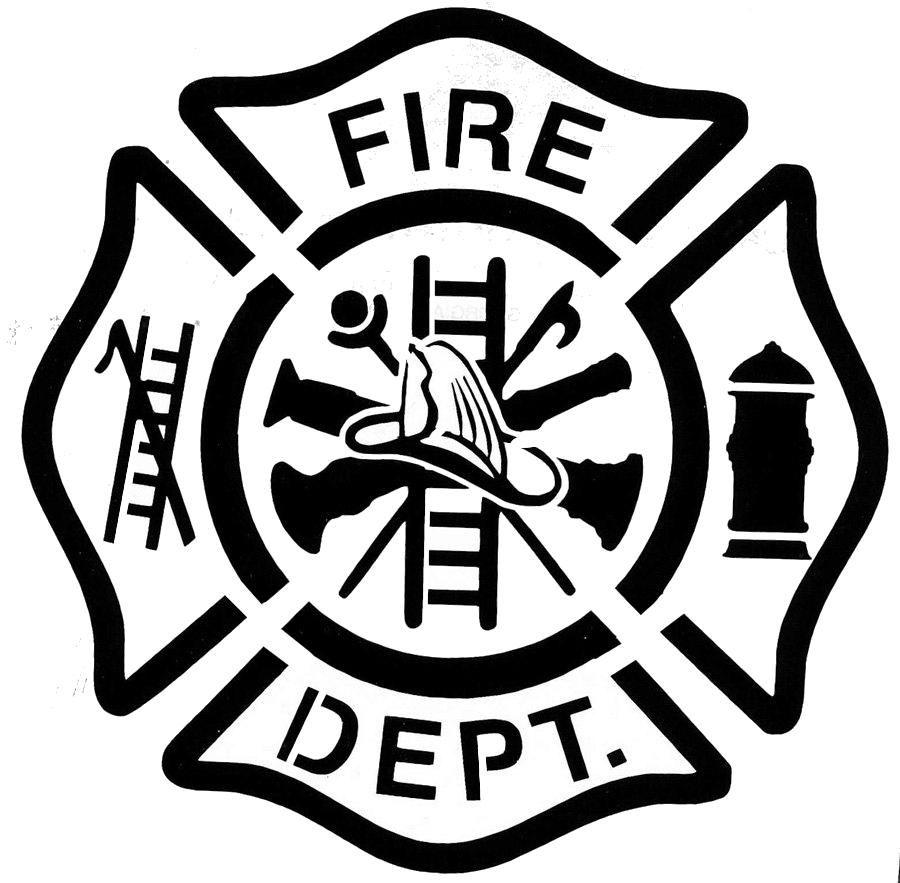 4 pack of stencils Firefighter, Firefighter logo
