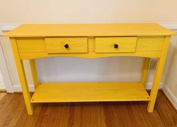 Chic Yellow Entry Table Sofa Table Console For Sale In Cary Nc Offerup Sofa Table Entry Table Table