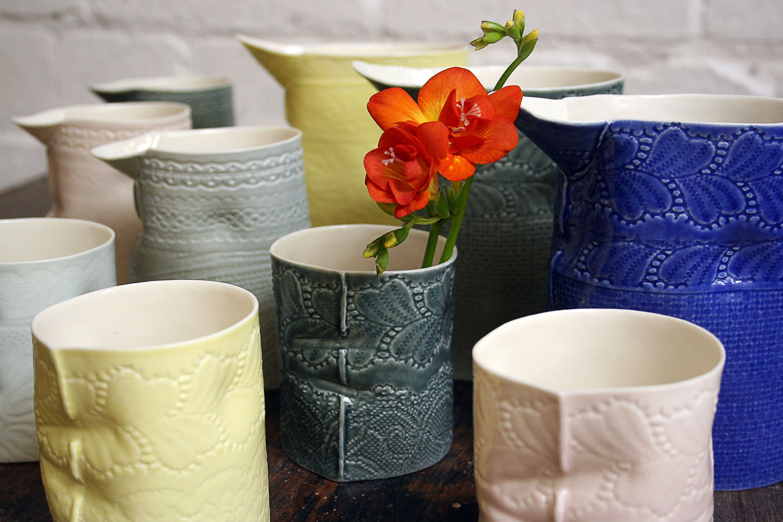Louise Hall Ceramic Design Porcelain Jugs And Beakers Ceramic Design Ceramics Beakers