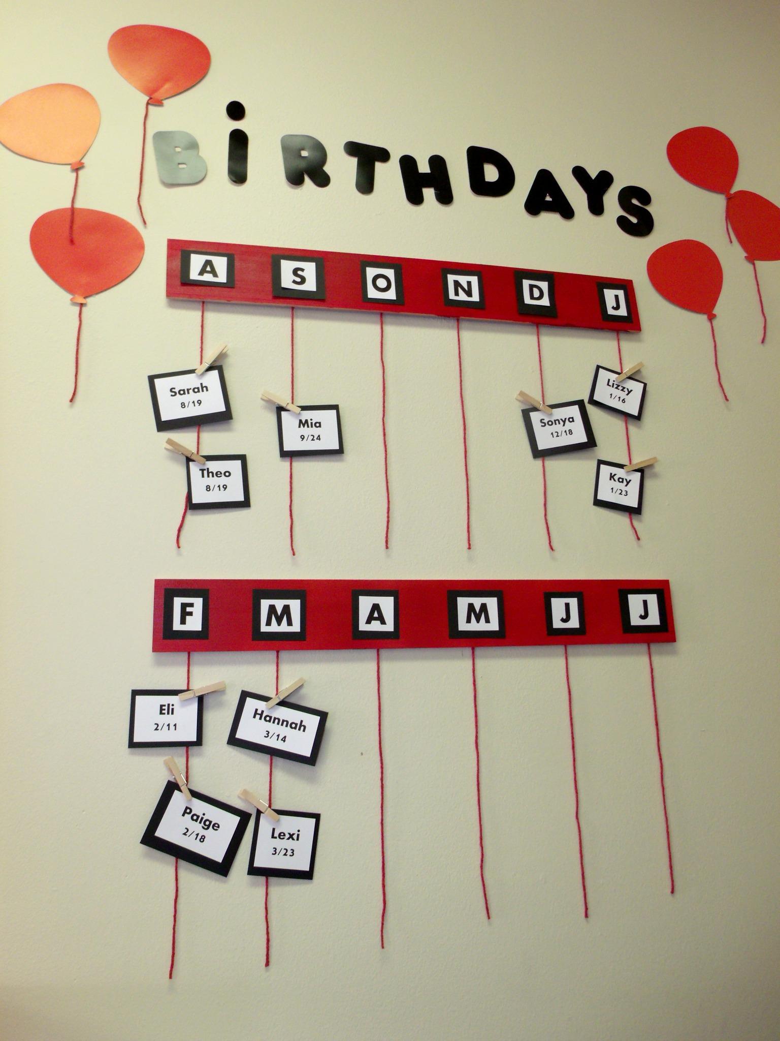 Classroom Wall Design For Elementary ~ Elementary classroom birthday wall birthdays