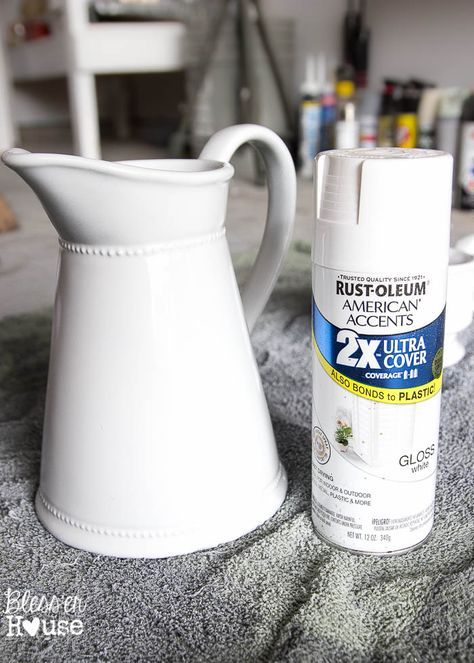 How to Fake Ironstone from Thrift Store Finds #thriftstorefinds