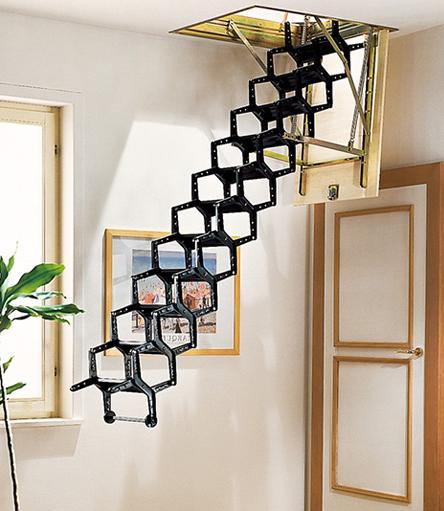 Funky Attic Pull Down Stairs Perabot Modern Desain Dekorasi Rumah