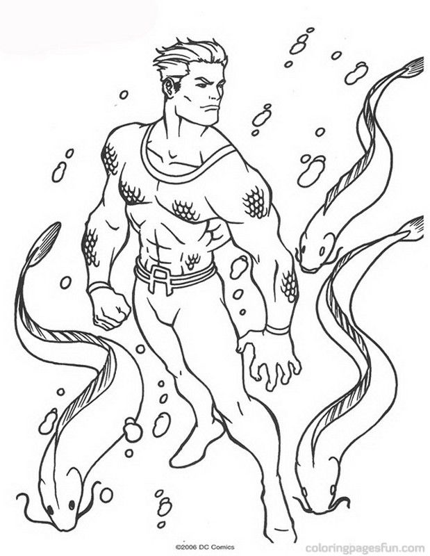 Aquaman Coloring Pages 24
