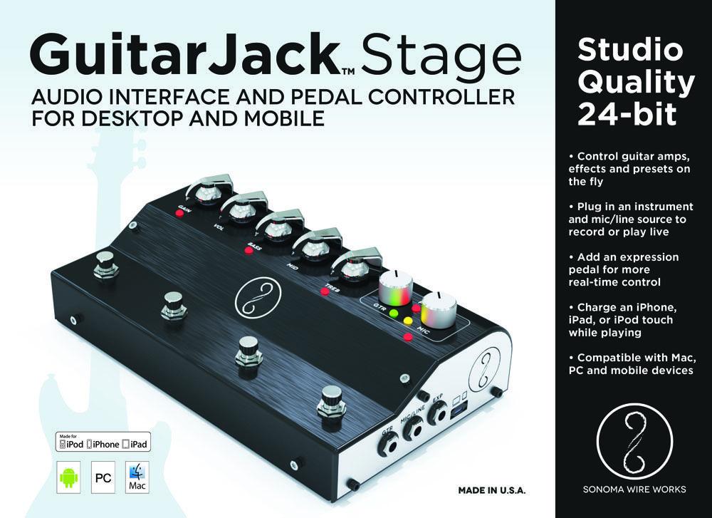 GuitarJack Stage Box Front. Kein Midi-Input. | Audio-/Midi ...