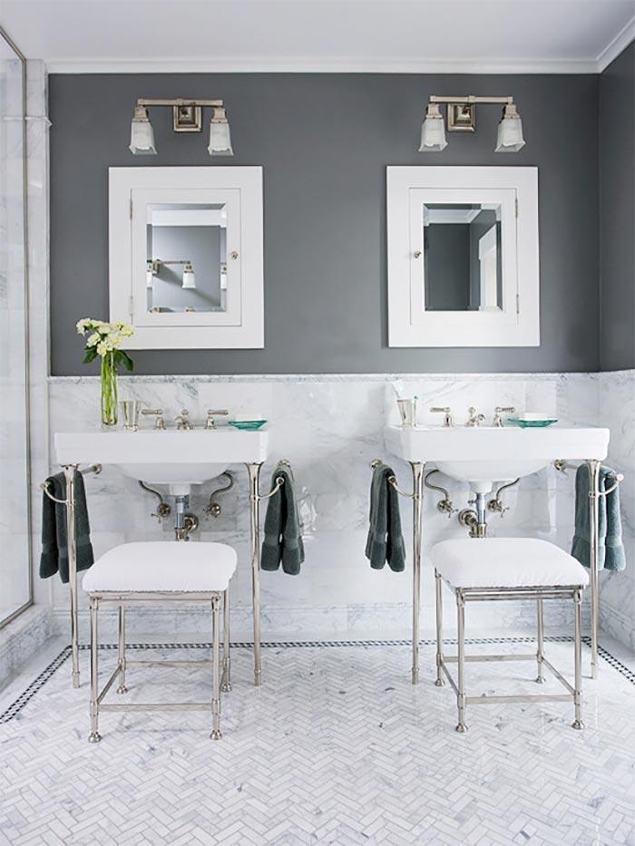 16 baños grises elegantes y modernos · 16 elegant and ...