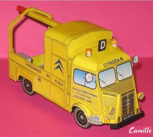 PAPERMAU: Citroen HY Tow Truck Paper Model In 1/43 Scale