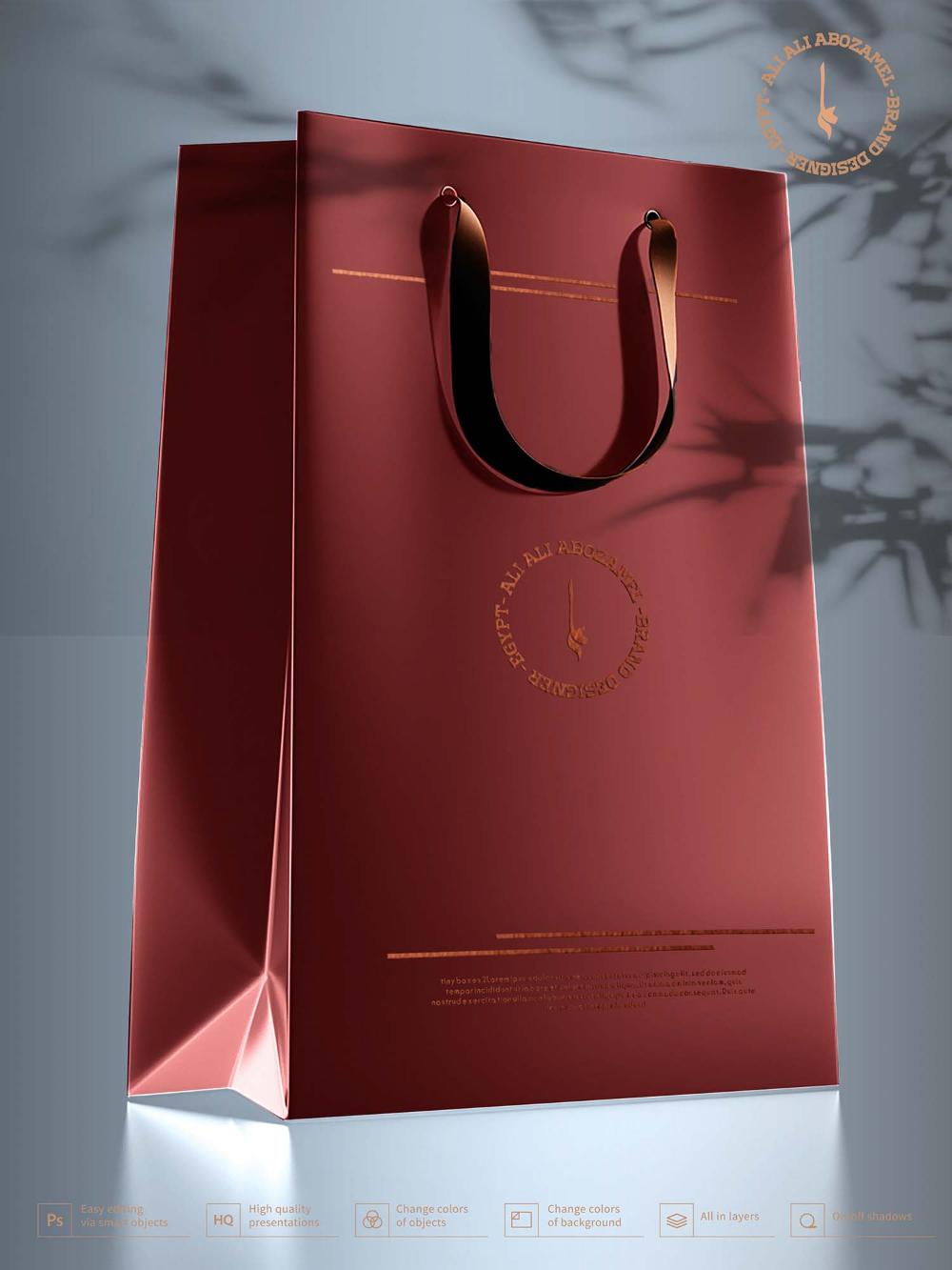 Download Free Black Bag Box With Label Mockup Psd In 2020 Black Bag Bags Free Black