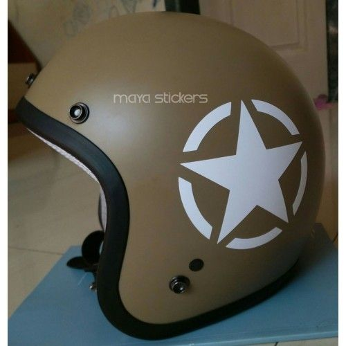 US Military Star Sticker Decal For Royal Enfield And Other Bikes - Custom motorcycle helmet stickers and decalsbicycle helmet decals new ideas for you in bikes and cycle