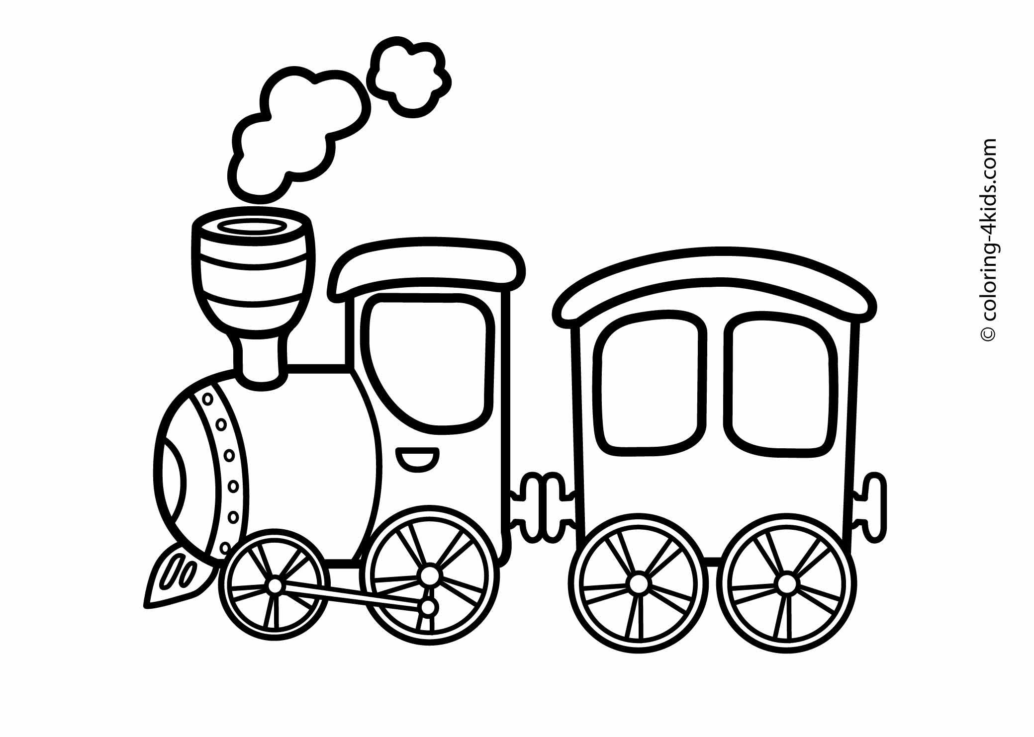 Train transportation coloring pages