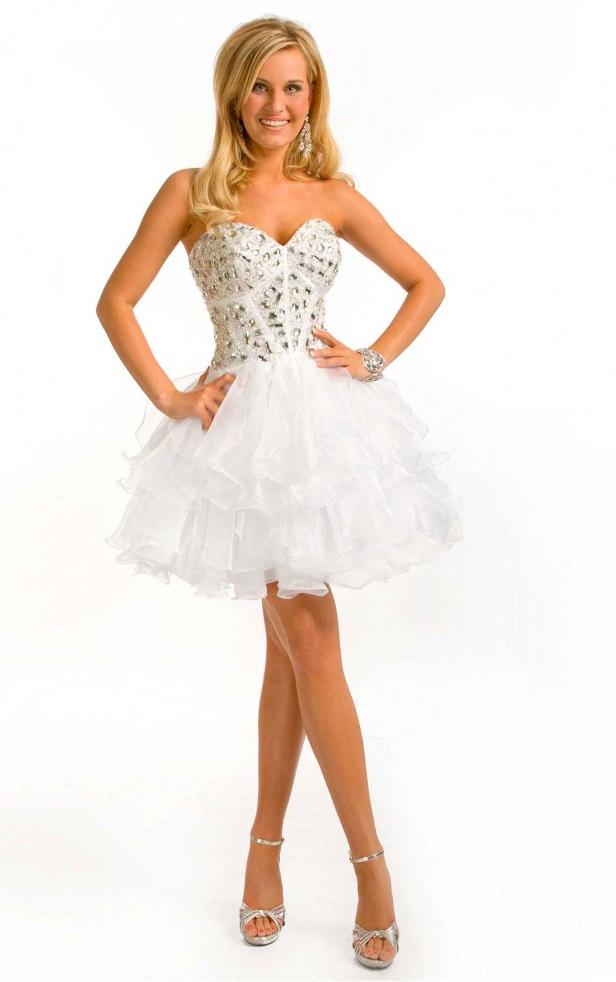 cheap-short-white-formal-dresses- | White Formal Dress | Pinterest ...