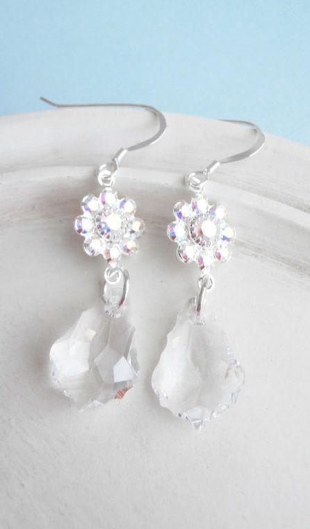 Sweetie Chocolates Lampwork Glass Bead Earrings Long Handmade Silver