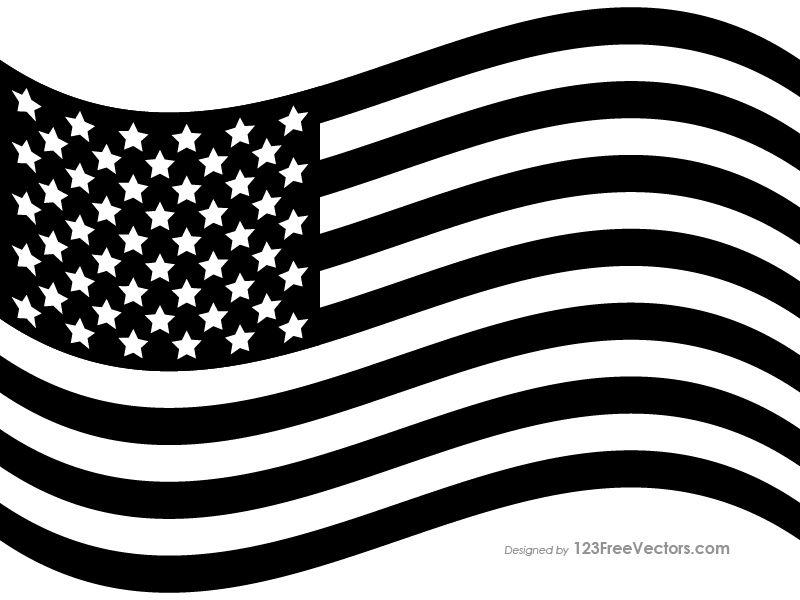 Black Us Flag Flag Flag Vector Free Vector Art