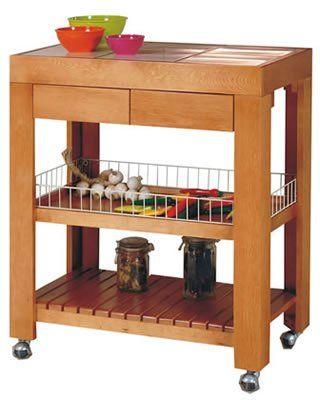Mesa auxiliar cocina pinterest mesitas auxiliares for Mesa auxiliar para cocina